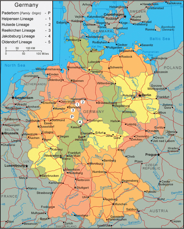 Most Mengersens born in Germany seem to originate from a region called Weserbergland (Between Hannover and Kassel)